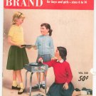 Vintage Hand Knits For Young America Boys & Girls Bear Brand Volume 348