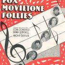 Breakaway & Big City Blues Sheet Music Fox Movietone Follies Brown & Henderson Vintage