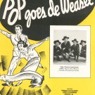Pop Goes De Weasel The Texas Rangers Sheet Music Calumet Vintage