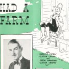 Old Mac Donald Had A Farm Eddie Lane On Cover Sheet Music Calumet Vintage
