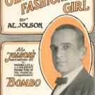 Old Fashioned Girl Jolson Bombo Sheet Music Robbins Vintage