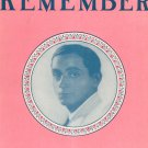 Irving Berlin's Remember Sheet Music Vintage