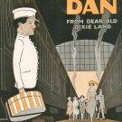Dapper Dan From Dear Old Dixie Land Tilzer Brown Sheet Music Broadway Vintage