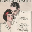 Can You Forget Walter Frey Sheet Music Ricordi Vintage