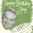 Fred Waring's New Happy Birthday Song Sheet Music Shawnee Vintage