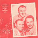 Across The Alley From The Alamo Greene Three Suns On Cover Sheet Music Leslie Vintage