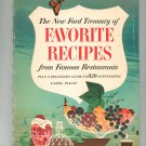 Vintage The New Ford Treasury Of Favorite Recipes Cookbook From Famous Restaurants