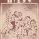 With A Hey And A Hi And A Ho Ho Ho Sheet Music Bourne Vintage