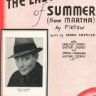 The Last Rose Of Summer From Martha Flotow Castillo Phil Baker On Cover Sheet Music Calumet Vintage