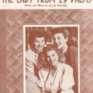 The Lady From 29 Psalms Wrubel Andrews Sisters On Cover Sheet Music Martin Vintage