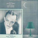 The Lamp Is Low Parish DeRose Shefter Gray Gordon On Cover Sheet Music Robbins Vintage