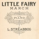 Little Fairy March For Piano Streabbog Sheet Music Mills Vintage