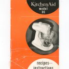Vintage Kitchen Aid Model 3 C Instructions & Recipes Cookbook Not PDF