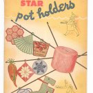 Vintage Star Potholders Star Book 32 American Thread Crochet