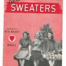 Vintage New Sweaters Chadwick's Red Heart Knit Book 171 Spool Cotton
