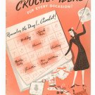 Vintage Crochet Ideas For Every Occasion Pearl Cotton Book 156 Spool Cotton