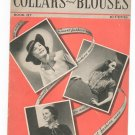 Vintage Collars And Blouses To Crochet And Knit Book 117 Spool Cotton