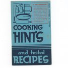 Vintage Cooking Hints And Tested Recipes Crisco Cookbook Winifred Carter