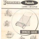 Vintage Parker Parkerette Lawn Sweeper Model PA-5620 Owners Guide Not PDF