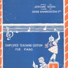 Vintage Ol' Man River Sheet Music Simplified Teaching Edition For Piano