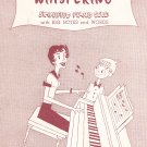 Vintage Whispering Sheet Music Simplified Piano Solo Coburn Rose Schonberger