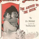 Vintage Burning Sands Sheet Music D. Onivas The Answer To The Sheik