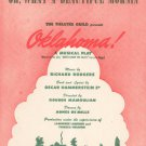 Vintage Oh What A Beautiful Mornin' Sheet Music Oklahoma Rodgers Hammerstein