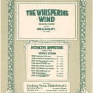 Vintage The Whispering Wind Op. 38 Sheet Music Wollenhaupt No. 1889