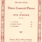 Vintage Winged Winds Op. 26 Sheet Music Cecil Burleigh