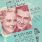 Vintage I've Got A Date With A Dream Henie & Greene On Cover Sheet Music Gordon Revel