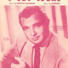 Vintage I Get ideas When We Are Dancing Tony Martin On Cover Sheet Music Cochran Sanders