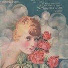 Vintage I'm Forever Blowing Bubbles Helen Carrington On Cover Sheet Music Kellette