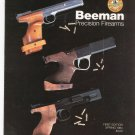 Beeman Precision Firearms Catalog  First Edition 1984 Not PDF With Extras