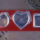 Set / Lot Of 3 Miniature Picture Frames by International Silver Company In Box