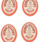 Lot Of 4 George Killians Irish Red Ale Coaster