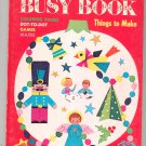 Vintage Christmas Busy Book Whitman Coloring Plus Judy Stang