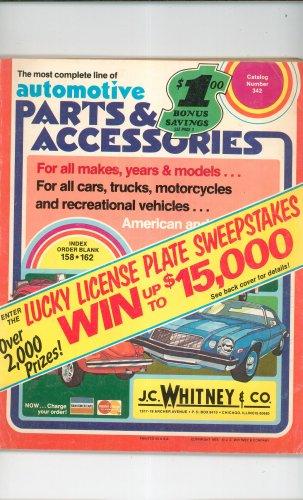 Vintage J C  Whitney Automotive Parts & Accessories Catalog Number 342 1975
