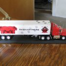 Red Dog You Are Your Own Dog Diecast Tractor Trailer Truck Model