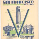 Vintage Glamorous San Francisco In Color Prints Southern Pacific Lines Railroad In Original Folder