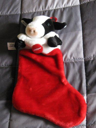 Cow Christmas stocking
