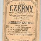 Vintage Czerny Selected Pianoforte Studies Germer Schuberth No. 23