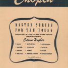 Vintage Chopin Master Series For The Young Piano Hughes Schirmer 1117