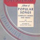 Vintage Rainbow Album Of Popular Songs Book Three Words & Music Guitar Plus