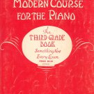 John Thompsons Modern Course For The Piano Third Grade Book Vintage Willis Music Co.