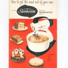 Sunbeam Automatic Mixmaster Deluxe Manual & Cookbook Vintage 1957
