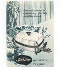 Sunbeam Gourmet Frypan Manual & Cookbook Vintage