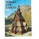 Norske Stavkirker Norwegian Stave Churches Guide Book Hakon Christie 8271820054