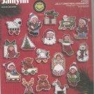 Janlynn Jolly Christmas Ornaments 77-625 Cross Stitch In Package