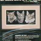Dimensions Dramatic Cat Trio 3967 Cross Stitch In Package