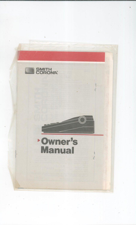 Smith Corona Typewriter Model Xl 1500 Owners Manual Not Pdf